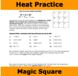 Heat Practice Problems with Magic Square (Thermochemistry)