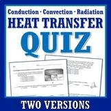 Heat Transfer QUIZ Middle School (convection, conduction,