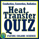 Heat Transfer QUIZ Middle School (convection, conduction,