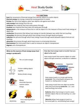 Heat Study Guide