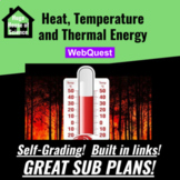 Heat, Temperature and Thermal Energy Webquest (GOOD SUB PLAN or DISTANCE ED)