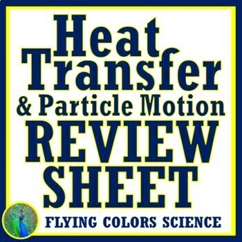 Heat Transfer Thermal Energy Review Worksheet NGSS MS-PS3-3 MS-PS3-4 MS-PS3-6
