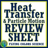 Heat Transfer Thermal Energy Review Worksheet NGSS MS-PS3-