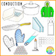Heat Transfer Clipart (Conduction, Convection, Radiation)