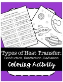 Heat Transfer: Conduction, Convection, & Radiation Coloring Activity