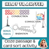 Heat Transfer: Conduction, Convection, Radiation DOODLE NOTES & CARD SORT
