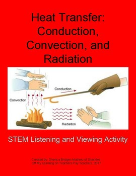 Heat Transfer- Conduction, Convection & Radiation Listening and Viewing Activity