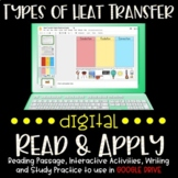 Types of Heat Transfer DIGITAL Read & Apply (DISTANCE LEARNING)