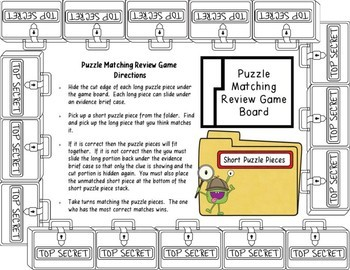 Heat Transfer Detective's Puzzle Matching Review Game