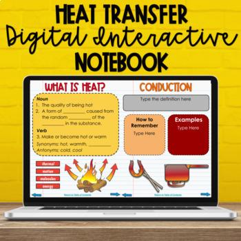 Heat Transfer Digital Interactive Notebook (NC Sci Standards: 5.P.3.1  5.P.3.2)