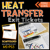 Heat Transfer Exit Tickets - Thermal Energy - Conduction C