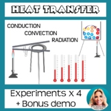 Heat Transfer Experiments: Conduction, Convection, Radiation