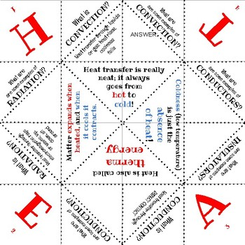 Heat Transfer Fortune Teller Foldable (Printable)