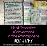 Heat Transfer In the Atmosphere Reading Comprehension Interactive Notebook