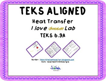 Heat Transfer  Lab Conduction with CER -TEKS 6.9A I LOVE chocolate