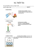 Heat Transfer Notes, Worksheet and Inquiry Lab Packet