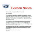 Heat Transfer PBL Eviction Notice