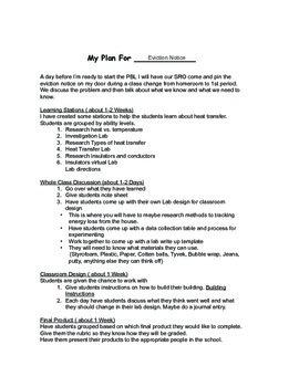 Heat Transfer PBL Eviction Notice