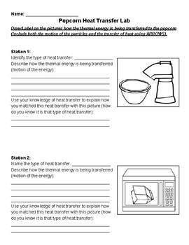 Heat Transfer Popcorn Lab