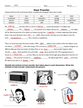 heat transfer practice worksheet by the science matters tpt. Black Bedroom Furniture Sets. Home Design Ideas