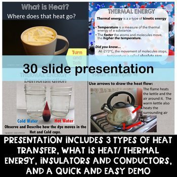 Heat Transfer-Radiation, Conduction, Convection: Presentation, Notes, Task Cards