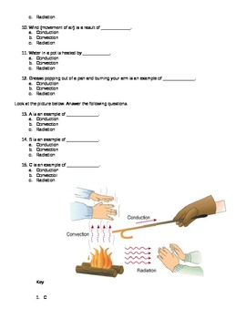 Heat Transfer Quiz: Conduction, Convection Radiation