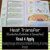 Heat Transfer Reading Comprehension Interactive Notebook