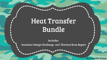Heat Transfer STEM/STEAM Design Challenge and Handout (Boot Camp)