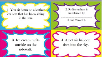 Heat Transfer Task Cards