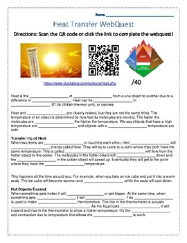 Heat Transfer WebQuest
