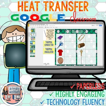 Heat Transfer and Conservation Digital Interactive Notebook