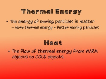 Heat Unit Vocabulary