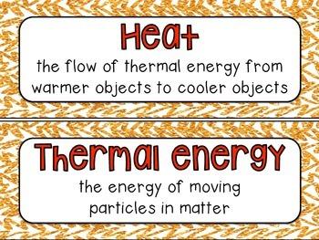 Heat Vocabulary