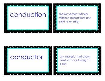 Heat Vocabulary Flash Cards GPS Third Grade