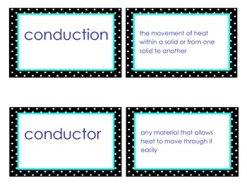 Heat Vocabulary Flash Cards GPS Third Grade