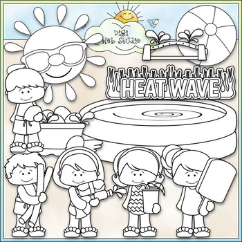 Heat Wave Fun - CU Clip Art & B&W Set
