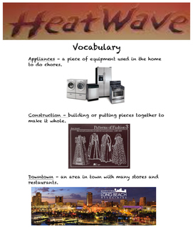 Heat Wave Vocabulary