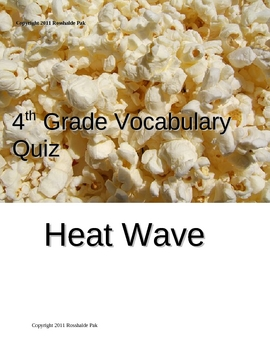 Heat Wave Vocabulary Quiz