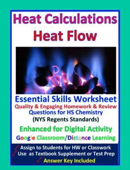 Heat and Heat Calculation - Worksheets & Practice Questions for HS Chemistry