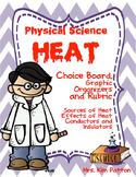 Choice Board: Heat and Temperature Choice Board, Rubric & Graphic Organizers