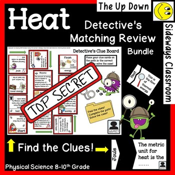 Heat and Temperature Detective's Matching Review Bundle