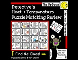 Heat and Temperature Detective's Puzzle Matching Review Game