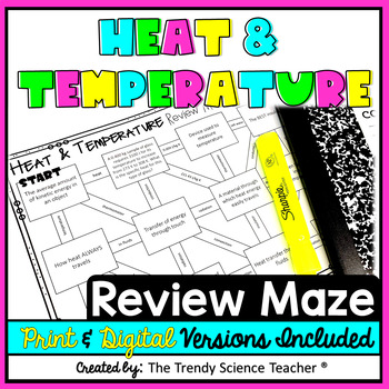 Heat And Temperature Maze Worksheet By The Trendy Science Teacher