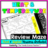 Heat and Temperature Maze Worksheet