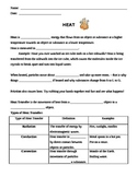 Heat and Temperature Unit:  Notes on Heat