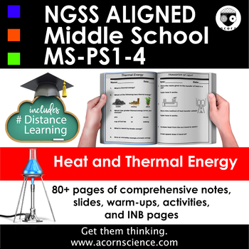 Heat and Thermal Energy Middle School Science NGSS MS-PS1-4 Aligned Pack