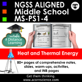 Middle School NGSS Heat and Thermal Energy  MS-PS1-4 Aligned Pack