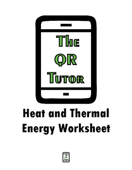 Heat and Thermal Energy Worksheet