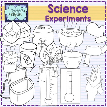 Heat and cold clipart {Science clip art}