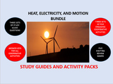 Heat, Electricity, and Motion Bundle: Study Guides and Activity Packs
